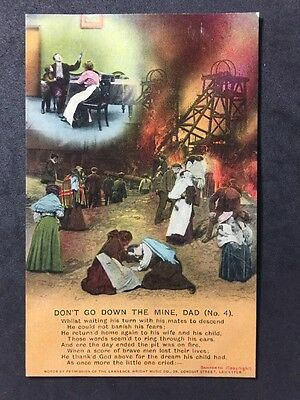 Vintage Postcard - Bamforth Song Card #A94 - Don't Go Down The Mine Dad 4