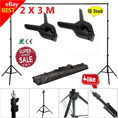 10Ft Adjustable Background Support Stand Photo Backdrop Crossbar Photography