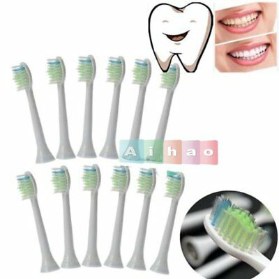 12x Rechangeable Toothbrush Heads For Philips Sonicare DiamondClean HX6064