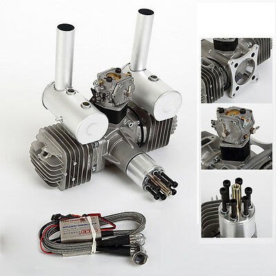 DLE111 DLE 111 111cc V3 Gasoline Petrol Engine CDI Ignition&Muffler For RC Plane