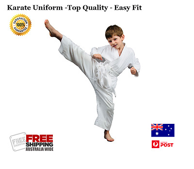 Karate Uniform Martial Arts Suit Gi Top Quality Cotton Poly Brand New With Belt