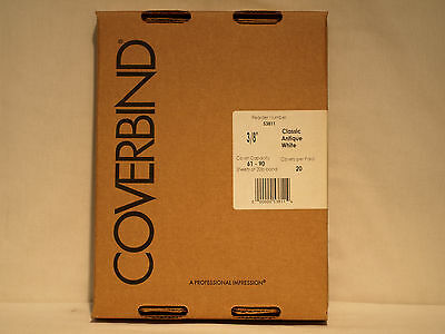 """Coverbind 53811 3/8"""" Classic Antique White Thermal Binding Covers"""