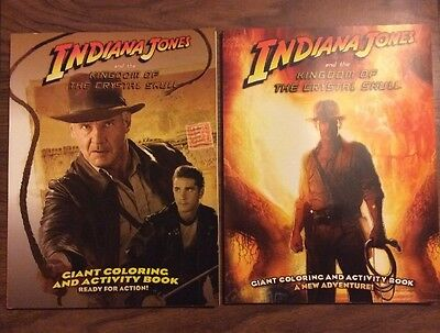 2 x Indiana Jones & the Kingdom Of The Crystal Skull Coloring & Activity Books