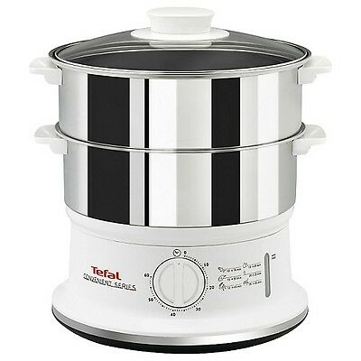 Tefal VC145140 Compact 900W 6L 3 Tier Electric Food Steamer