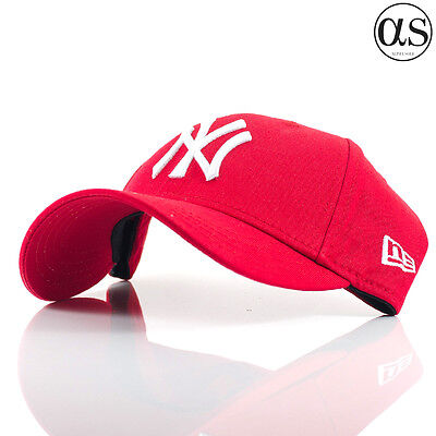 Kids Youth New Era 9FORTY 'Basic' New York Yankees Red Adjustable Curved Cap