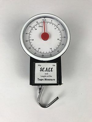 32 KG Portable Travel Baggage Suitcase Luggage Analog Weighing Scales with Hook