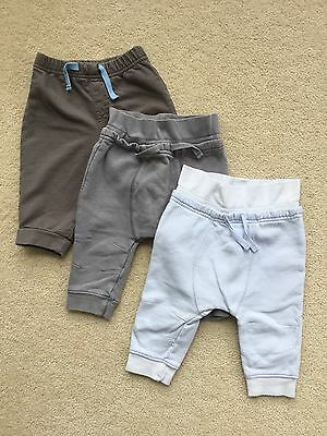 Lot Of 3 Pairs Of Boys Jogging Bottoms Age 3-6 Months Next And Cherokee
