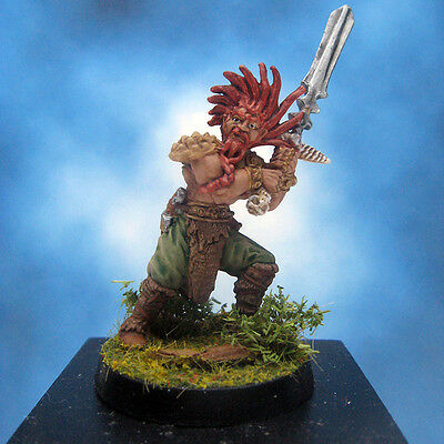 Painted Ral Partha Crucible Miniature Thane Barbarian Infantry