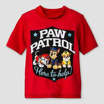 Toddler Boys' Paw Patrol Rash Guard - Red