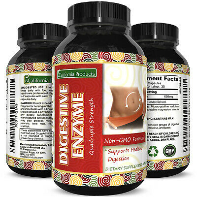 Digestive Enzymes Supplement Pancreatin 4X Indigestion Stomach Relief Formula