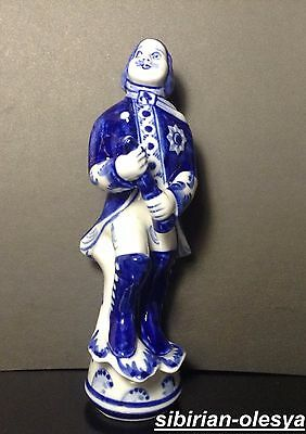Porcelain figurine of Russian Tsar Peter the Great , Peter 1 , Gzhel , H-17 cm
