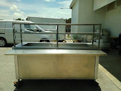 SS Cold Food Counter w Ice Pan & Under Shelf #1322