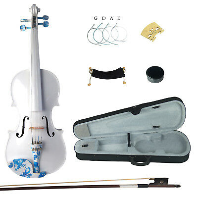 Kinglos 4/4 Full Size Simple Colored Ebony Fitted Solid Wood Violin Kit