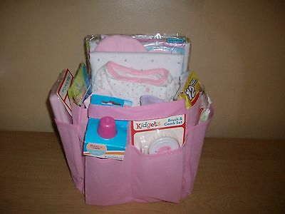 Baby Girl 27 piece Portable Diaper Travel Bag Baby Shower Gift Basket