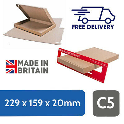 Brown Strong Cardboard Large Letter C5 / A5 Size, PIP Postal Mailing Box
