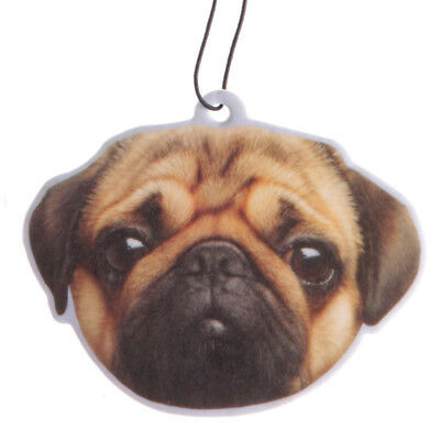 Pug Air Freshener Peach Scented Car Van Cute Funny Pugs and Kisses Pug Head