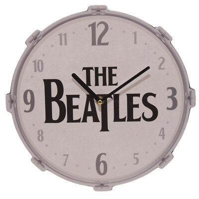 Beatles Drum Picture Wall Clock Official Licensed Classic Logo Retro Music Fan