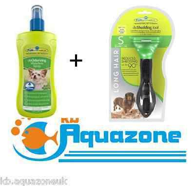deodorizing Waterless spray 250ml for dog+furminator for small dog long hair