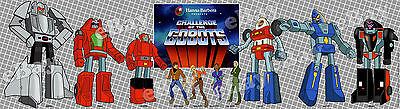 New!! EXTRA LARGE! CHALLENGE OF THE GOBOTS Panoramic Photo Print HANNA BARBERA