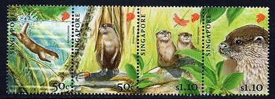 SINGAPORE MNH 2011  Endangered Animals - Oriental Small-Clawed Otter
