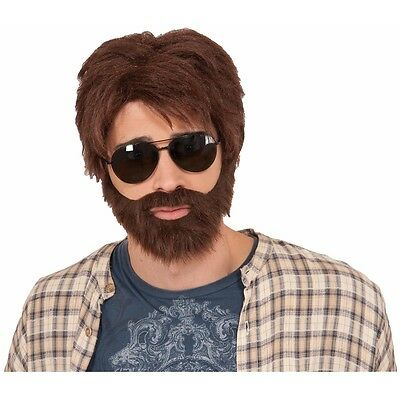 Alan Costume Wig & Beard Adult The Hangover Funny Halloween Fancy Dress
