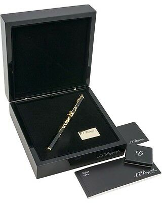 S T DUPONT Cheval Large Limited Edition Yellow Gold Fountain Pen 141856 $2700