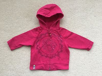 NEXT Girls Pink Jersey Hoody Age 9-12 Months