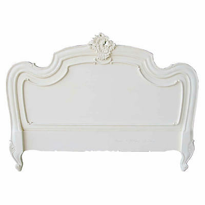 Louis XV Headboard - Antique White - King Size - New - In Stock