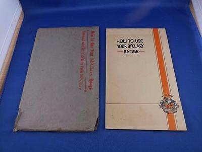 How To Use Your Mcclary Range Stove Booklet Manual Recipes Oven Care + Envelope