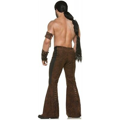 Khal Drogo Costume Wig Adult Game of Thrones Dothraki Warrior Fancy Dress