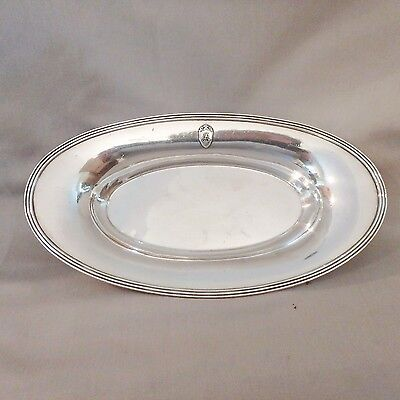 """Antique Vtg Wallace Silverplate Silver Soldered Hotel Ware Bread Tray """"B"""" Hotel"""