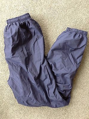 Holloway Blue Nylon Lined Running Jogging Wind Pants Zip Ankle~sz M (fits Small)
