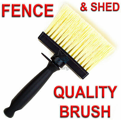 """New Large 4"""" (100 x 30mm) Wide Fence And Shed Decking Painting Paint Brush Paste"""