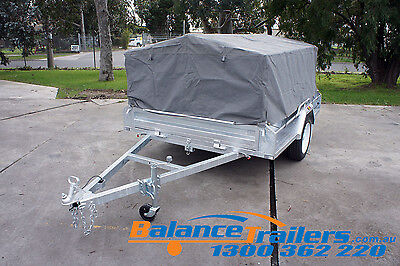 8X5 BOX TRAILER CAGE CANVAS COVER TARP 900mm 3 FOOT