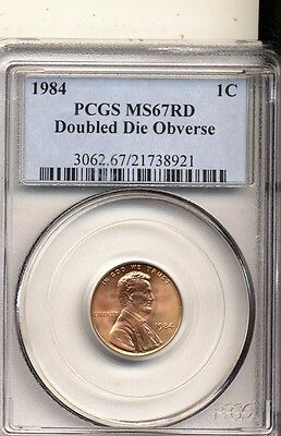 1984 Ms67 Red Pcgs Fs-101 Double Ear Double Die Cent