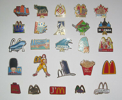 Pin's Publicitaire Collection Metal + Attache Mc Donald Modèle au choix