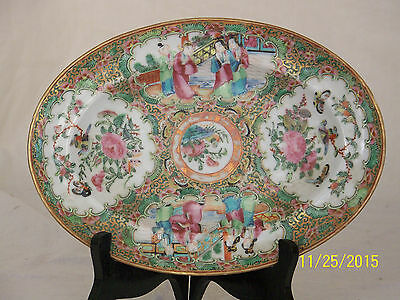 Antique c1800's Chinese Rose Medallion Hand Painted Platter