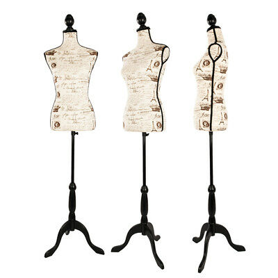Female Mannequin Torso Designer Pattern Dress Form Display W/ Tripod Stand Lady