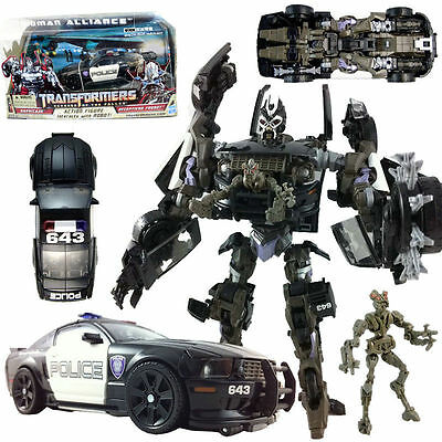 TRANSFORMERS Barricade & Decepticon Frenzy HUMAN ALLIANCE RD-24 POLICE CAR TOY