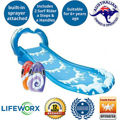 Intex Surf n Slide Water Slide with inflatable pool and surf riders