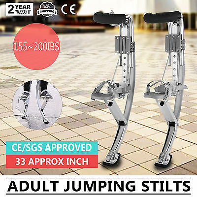 Adult Jumping Stilts Fitness Exercise Bouncing Shoes Black 6 Pop