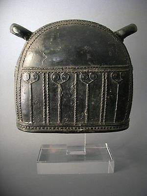 16#Antique Bronze Elephant Bell With Clear Stand Beautiful Rare Cheap Don't Mis*