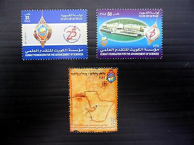 KUWAIT 2002 Sciences  (3) SG1773/5 U/M FP9568
