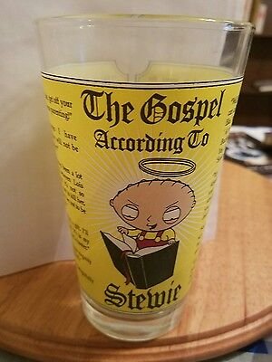 Family Guy The Gospel According To Stewie Collectible Beer Glass Pint