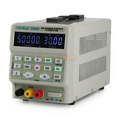 YiHua 3005D 0-30V 5A Adjustable Digital Regulated Lab DC Power Supply US Plugs