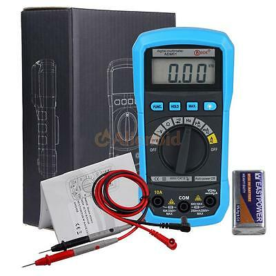 ADM01 LCD Digital Auto Ranging Clamp Multimeter Meter AC DC Voltage Tester DMM