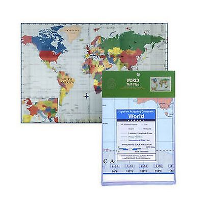 New World Geography Map Wall Poster Size 100Cm X 70Cm