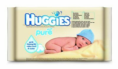 Huggies Pure feuchte TŸcher Probe, 15er Pack (15 x 16 TŸcher)