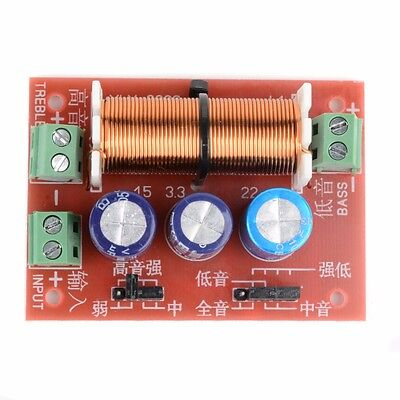 Ajustable Treble / Bass Frequency Divider 2 Way Speaker Audio Crossover Filters