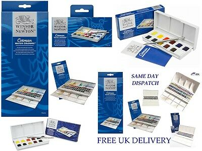 New Winsor & Newton Cotman Water Colour Sets for Artists Students Good Quality